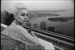 Debbie on the roof of the World Trade Center around 75-76'